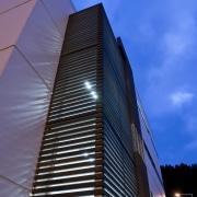 View of a logistics centre designed by Cymon architecture, building, city, commercial building, condominium, corporate headquarters, daytime, facade, headquarters, landmark, line, metropolis, metropolitan area, sky, skyscraper, tower, tower block, urban area, blue