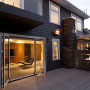View of this home - View of this deck, facade, home, house, real estate, siding, window, black