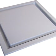 View of the ventilation products by Smooth Air product design, rectangle, gray, white