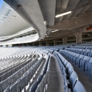 View of Eden Park's new South Stand which architecture, arena, atmosphere of earth, auditorium, convention center, sport venue, stadium, structure, black, gray