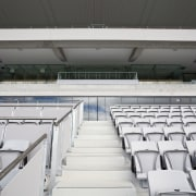 View of Eden Park's new South Stand which architecture, arena, auditorium, sport venue, stadium, structure, white, black