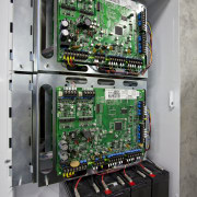 View of commercial security control at Eden Park cable management, computer case, computer component, computer hardware, cpu, electrical network, electronic device, electronic engineering, electronic instrument, electronics, personal computer hardware, system, technology, gray, black