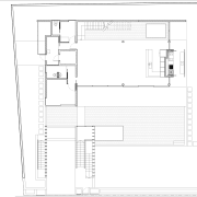 View of architectural floor plans. - View of angle, architecture, area, design, diagram, drawing, elevation, floor plan, house, line, plan, product, product design, schematic, structure, text, white