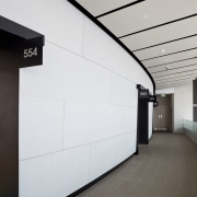 PBS Contracting supplied the Eden Park stadium facade architecture, daylighting, glass, interior design, line, product design, wall, gray, white