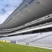 View of the rebuilt South Stand at Eden arena, atmosphere, atmosphere of earth, sky, soccer specific stadium, sport venue, stadium, structure, gray, white