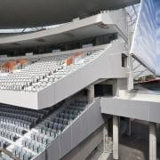 view of Eden Park which features precast concrete architecture, building, sport venue, structure, gray