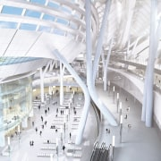 Conceptual image of the West Kowloon Terminus which architecture, building, daylighting, mixed use, structure, white
