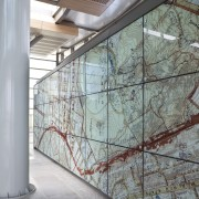 View of glass systems included in the New architecture, building, daylighting, facade, glass, structure, wall, window, gray