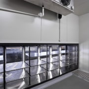 View of a kitchen at Eden Park which architecture, daylighting, glass, interior design, gray, black