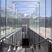 Specialist architectural glazing company Glass Projects supplied and architecture, building, daylighting, glass, handrail, structure, gray, teal