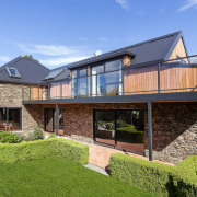 Cedar was chosen to replace the outdated plaster