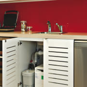 View of a kitchen which features the Sanispeed furniture, home appliance, kitchen, product, product design, white