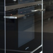 View of kitchen which features Smeg oven. - furniture, home appliance, kitchen appliance, major appliance, black