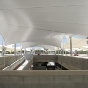 View of sails by Greenline Shade and Shelter architecture, fixed link, infrastructure, overpass, structure, gray