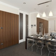 View of a renovated show home kitchen designed interior design, kitchen, property, real estate, room, white, black