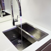 View of a kitchen which features a Smeg bathroom sink, countertop, plumbing fixture, product design, sink, tap, white