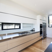 View of a kitchen built by RH Cabinetry architecture, house, interior design, kitchen, property, real estate, window, white