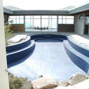 View of the oceanfront Butterfly House in Carmel architecture, house, property, real estate, swimming pool, water, white