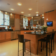 View of remodeled kitchen in a Park Avenue cabinetry, ceiling, countertop, interior design, kitchen, room, brown