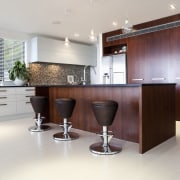 Large functional space/ Remodelled kitchen. Work triangle. Soft-closing cabinetry, countertop, cuisine classique, floor, interior design, kitchen, product design, real estate, room, gray