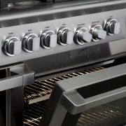 View of the new indoor kitchen collection by electronic instrument, electronics, gas stove, home appliance, kitchen appliance, kitchen stove, major appliance, black, gray