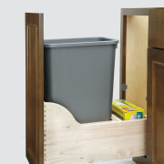 View of kitchen organisation products by Rev-A-Shelf, including furniture, product, product design, shelf, wood, white