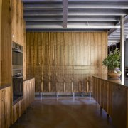 The house and kitchen designed by Jonothan Grose-Jong architecture, ceiling, daylighting, floor, house, interior design, lobby, real estate, roof, wood, brown