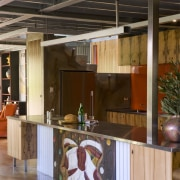 The house and kitchen designed by Jonothan Grose-Jong furniture, interior design, kitchen, lobby, table, brown