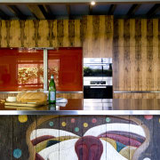 The house and kitchen designed by Jonothan Grose-Jong architecture, floor, flooring, interior design, lobby, table, wall, wood