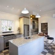Interior Designer and Kitchen Designer Celia Visser. Modern ceiling, countertop, home, interior design, kitchen, living room, real estate, room, gray