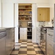 Interior Designer and Kitchen Designer Celia Visser. Modern cabinetry, countertop, cuisine classique, floor, flooring, interior design, kitchen, room, tile, gray, brown