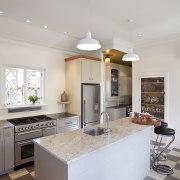 Interior Designer and Kitchen Designer Celia Visser. Modern ceiling, countertop, cuisine classique, floor, home, interior design, kitchen, real estate, room, gray