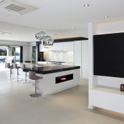 Kitchen designed by Leonie Von Sturmer of Von floor, interior design, kitchen, real estate, gray
