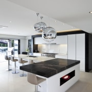 Kitchen designed by Leonie Von Sturmer of Von countertop, furniture, interior design, kitchen, product design, table, gray