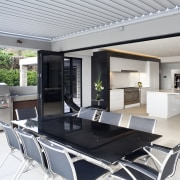 Kitchen designed by Leonie Von Sturmer of Von architecture, house, interior design, property, real estate, table, gray
