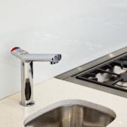 Kitchen designed by Leonie Von Sturmer of Von product design, tap, white