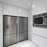 Kitchen designed by Leonie Von Sturmer of Von floor, home appliance, interior design, kitchen, product design, room, gray, white