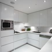 Kitchen designed by Leonie Von Sturmer of Von cabinetry, countertop, interior design, kitchen, product design, room, gray, white