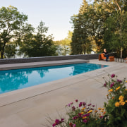 View of pool area. - View of pool backyard, estate, home, leisure, outdoor structure, property, real estate, swimming pool, brown, gray