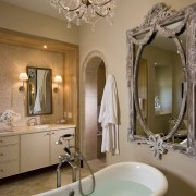 This master suite was designed by Martin Horner bathroom, ceiling, home, interior design, room, sink, brown, gray