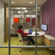 View of a conference / video-conference room. - floor, flooring, furniture, institution, interior design, office, brown