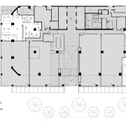 Floor plan for the offices of the Public architecture, area, design, diagram, drawing, elevation, floor plan, font, line, plan, product design, schematic, structure, text, white