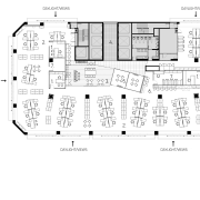 Floor plan for the offices of the Public angle, area, black and white, design, diagram, drawing, floor plan, font, line, music, plan, product, product design, text, white