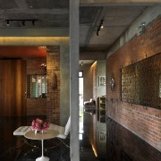 This house was designed by Dr Tan Loke architecture, ceiling, interior design, lobby, wall, black