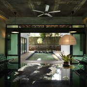 This house was designed by Dr Tan Loke ceiling, home, interior design, room, black