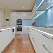 Designer Mal Corby. Corian Clam Shell bench top. countertop, interior design, kitchen, property, real estate, room, gray