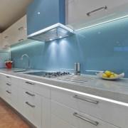 Designer Mal Corby. Corian Clam Shell bench top. countertop, interior design, kitchen, product design, room, gray