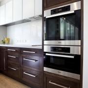 Designer Scarlet Architects. Traditional. Solid oak frame doors cabinetry, countertop, cuisine classique, home appliance, interior design, kitchen, kitchen appliance, major appliance, refrigerator, white