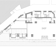 25 level retail outlet on Hong-Kong island. Theme architecture, area, black and white, building, design, diagram, drawing, elevation, facade, floor plan, home, house, line, plan, product design, property, real estate, structure, white