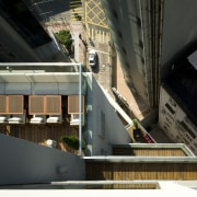 25 level retail outlet on Hong-Kong island. Theme architecture, public transport, rolling stock, train, transport, black